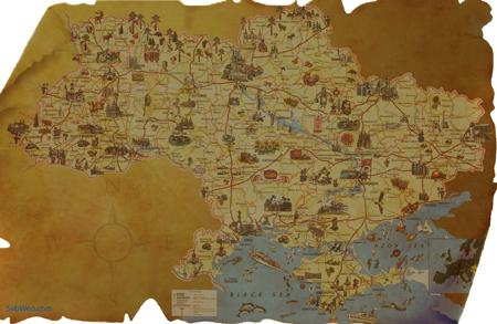Карта скарбів в Україні засобами Photoshop