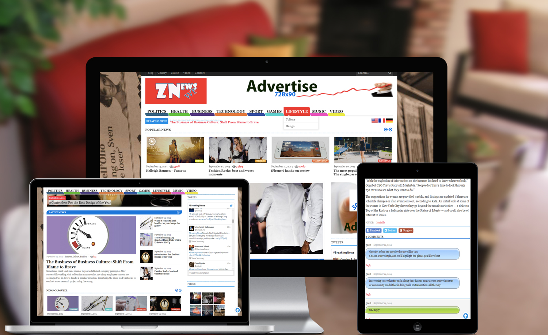 ZNews - News, Blog, Portfolio WordPress Theme