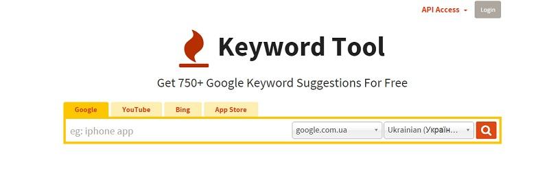 Інструмент в скарбничку SEO-шника – Keyword Tool