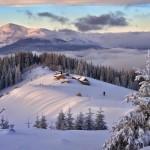 Неимоверные снежные картины под открытым небом