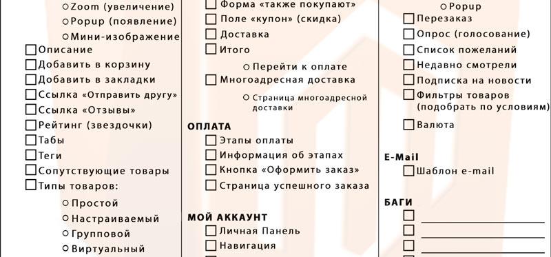 Чек-лист для Маженто – список задач