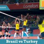 Бразилия vs Турция | Женский волейбол на ХХХ Олимпиаде 2012