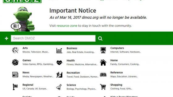 Проект DMOZ Open Directory закривається 14.03.2017