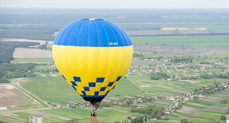Над Украиной на воздушном шаре – фотоподборка