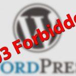 Ошибка 403 в WordPress и как ее исправить