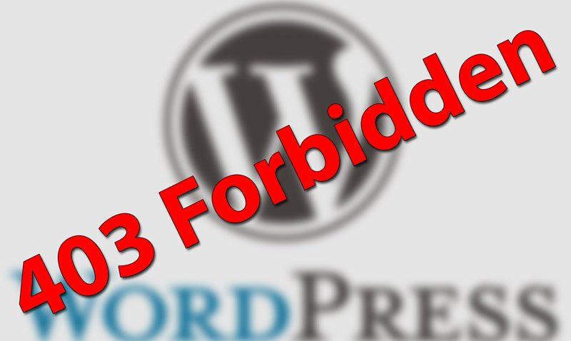 Помилка 403 в WordPress і як її виправити