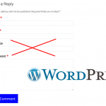 Как удалить ненужное поле Website в форме комментирования