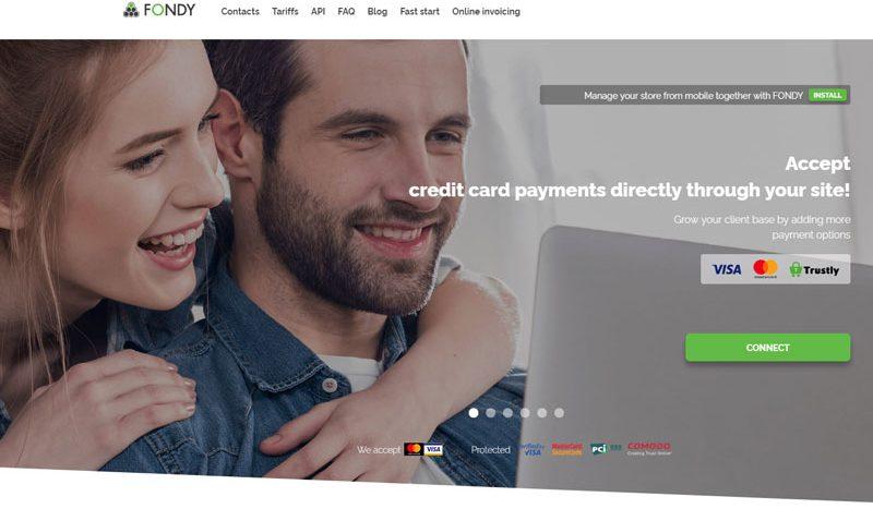 Fondy: прием онлайн-платежей на сайте теперь не проблема