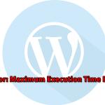 Як виправити помилку Maximum Execution Time Exceeded в WordPress