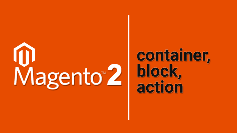 Контейнери, Блоки та Дії в структурі макета Magento 2