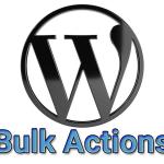 Массовые действия в Консоли WordPress