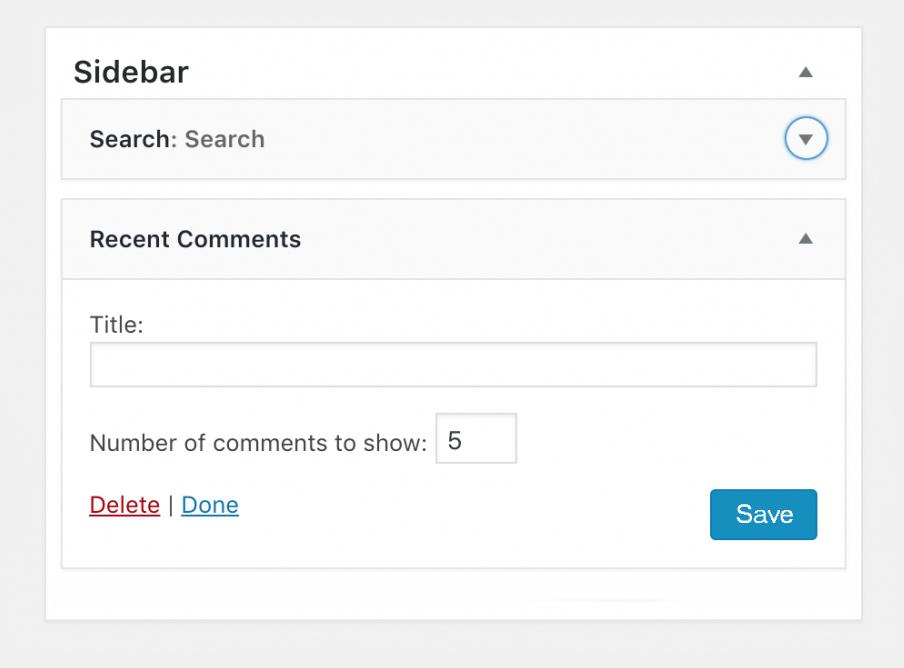 Как показывать последние комментарии в сайдбаре WordPress
