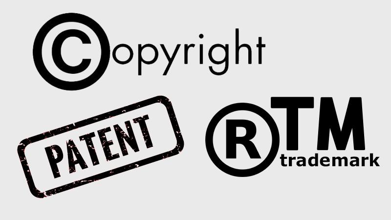 Різниця між авторськими правами, товарним знаком та патентом