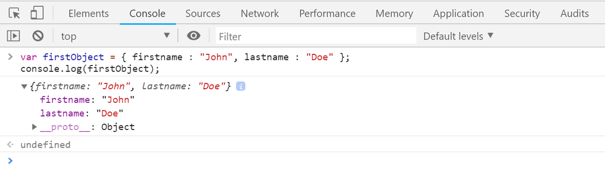 Консоль в браузере (console.log())