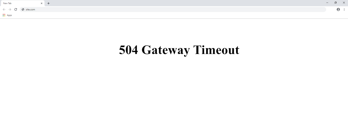 504 ошибка (Gateway Timeout – Шлюз не отвечает)