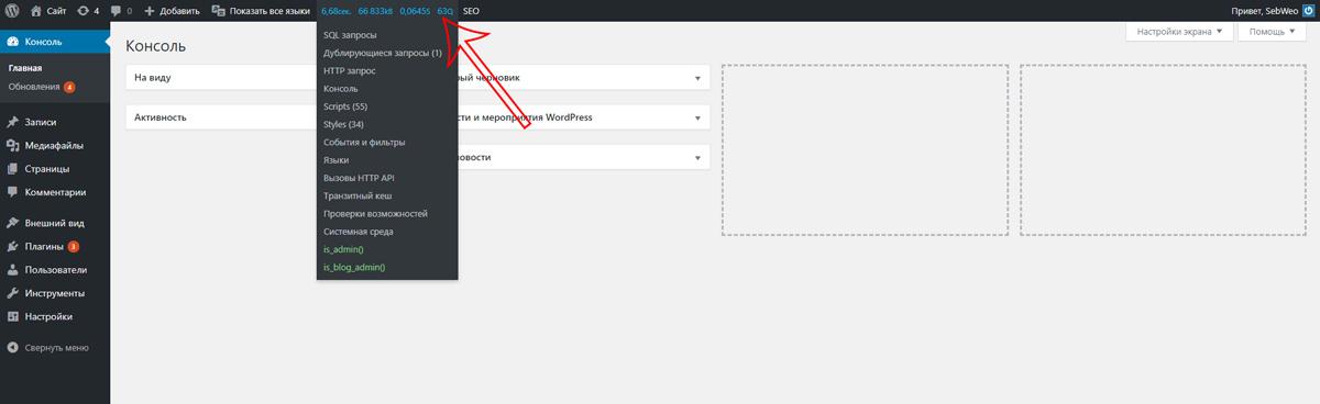 Як подивитися SQL запити до бази даних в WordPress