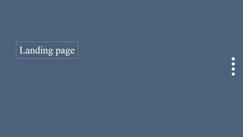 Пример сайта-одностраничника с полноэкранными секциями